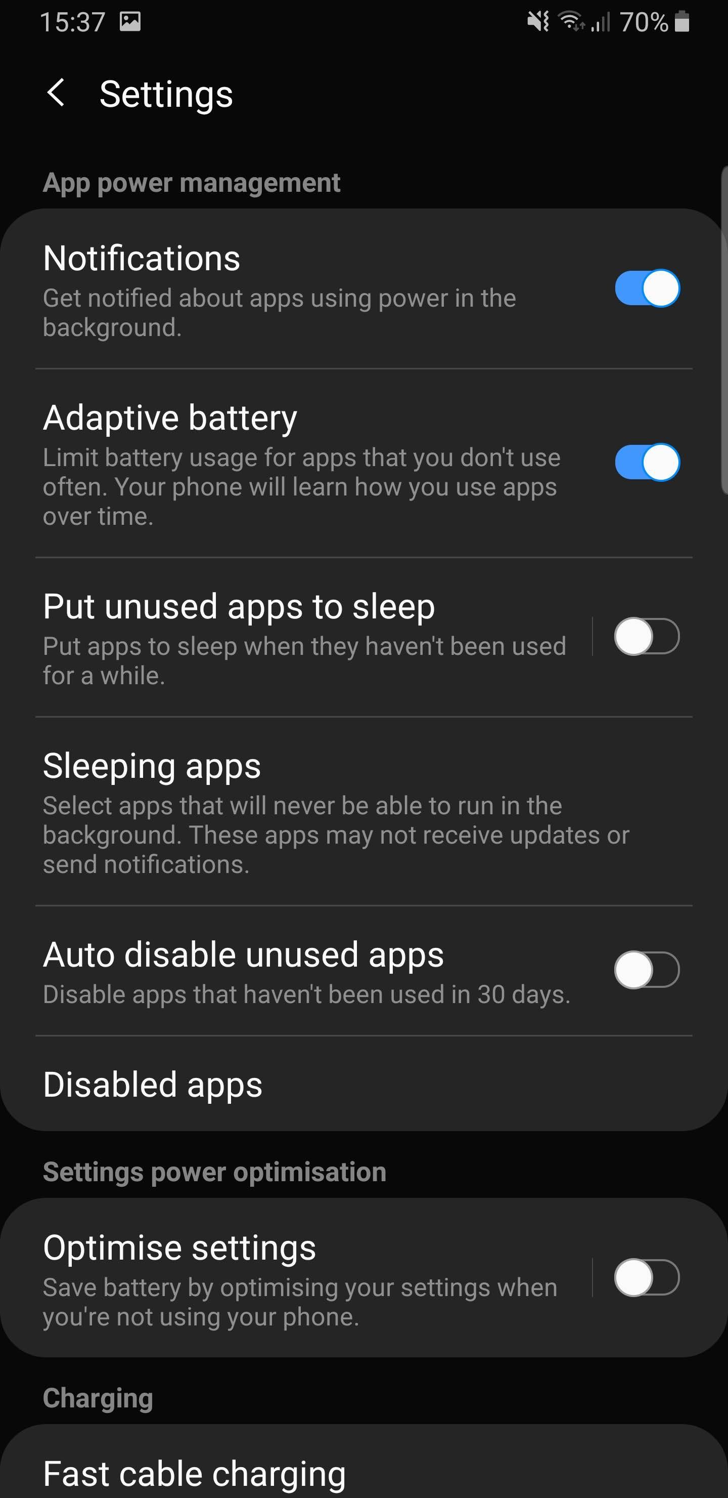 Samsung | Don't kill my app!